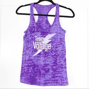 Team Voltage purple tank top
